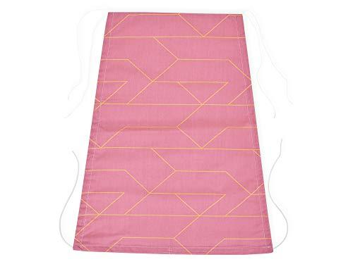 KraftKids Voile d'ombrage Doré lignes sur fond rose
