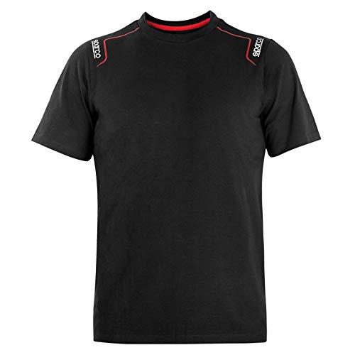 Sparco Trenton T-Shirt in cotone elasticizzato nera, XL