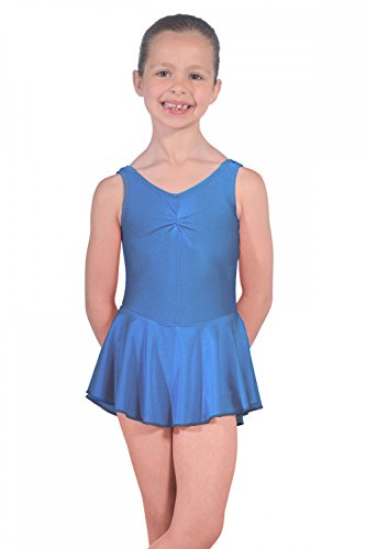 Roch Valley Leotard with Skirt Istdj-Maillot de Lycra con Falda, niña, Azul Real, Age 7-8