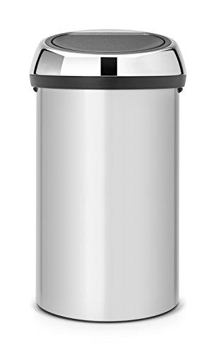Brabantia 402425 Poubelle Touch Bin, 60 L - Gris métallique