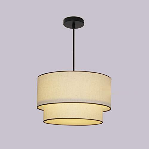 WENY E27 Luces Colgantes Redondos Moderno de 2 Niveles de Colgante de lámpara de Colgante Luz Colgante para la Cocina Sala de Estar Restaurante Barra de café Loft (sin Bombilla),50 * 30cm