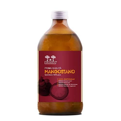 Succo di Mangostano Salugea, 100% Puro, non diluito. Integratore naturale per il benessere di...