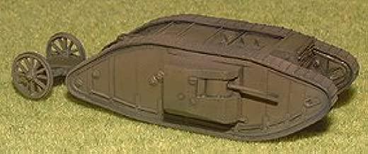 イギリス 菱形戦車 MkⅠ 雄型 1/144 塗装済み完成品 Britain Mark Ⅰ Tank Male 1/144 Painted finished goods