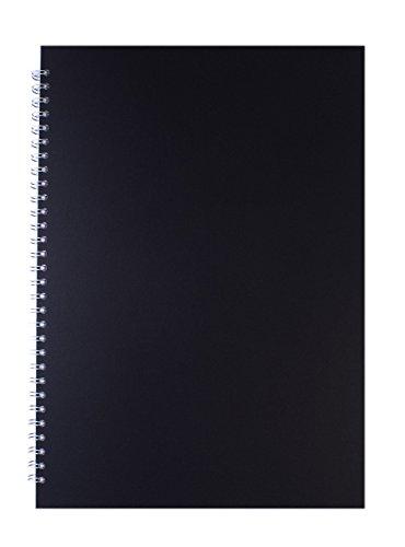 Pink Pig schwarz A3 Skizzenbuch 150gsm säurefrei weißes Papier 70 Seiten (35 Blätter)
