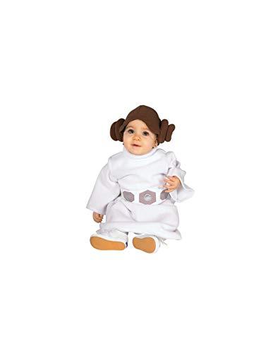 DISBACANAL Disfraz Princesa Leia bebé Star Wars - -, 1-2 años