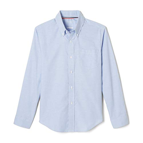 French Toast Big Boys' Long Sleeve Oxford Dress Shirt, Light Blue, 14