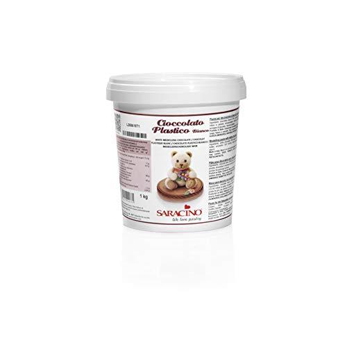 Saracino Cioccolato Plastico Bianco Per Decorazioni E Modelling Da 1 Kg Made In Italy