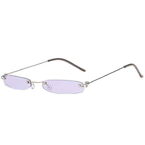 LUCKYCAT Mode Herren Retro kleine ovale Sonnenbrille für Damen Metallrahmen Shades Brillen Katzenauge Metall Rand Rahmen Damen Frau Mode Sonnebrille Gespiegelte Linse Women Sunglasses