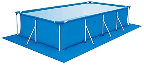 WKONAK - Alfombra de suelo para piscina, rectangular, tejido de tierra, 200 x 300 cm, impermeable, tarpaulin, tela Gazebo Top tapa azul (no de piscina) 3 m x 4 m