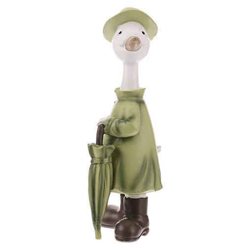 YARNOW Estatuilla de Pato de Mesa Rsin Figura de Pato Escultura Animal Lindo Escultura de Escritorio Decoración Adorno Regalos (Verde Oliva)