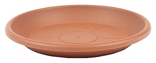 greemotion Soucoupe pour pot de fleur rond couleur terre cuite Ø49 cm - Dessous de pot de fleurs en plastique - Sous-pot pour plantes - Plateau pour pot de fleurs rond