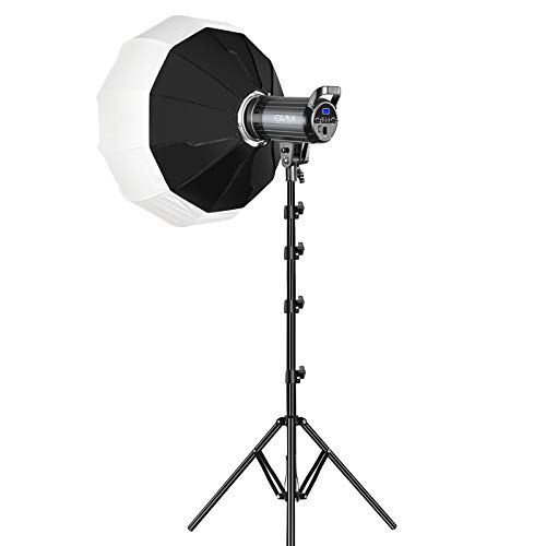 Bi-Color LED Video Light, GVM 100W Photography Lighting with Bowens Mount, APP Control System, Lantern Softbox Video Lighting Kit for YouTube Outdoor Studio, Dimmable 3200K-5600K, CRI 97+