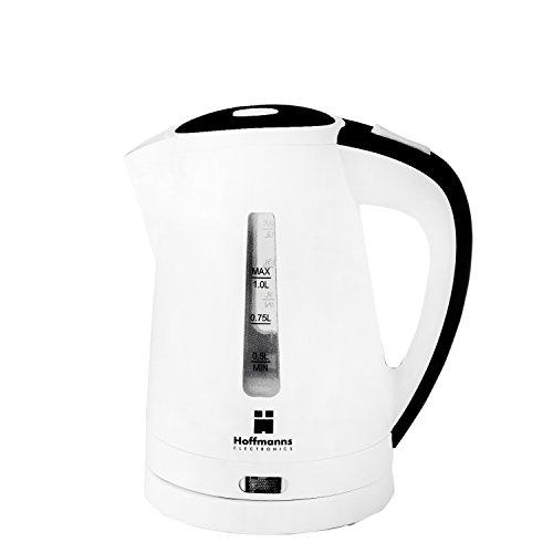 Wasserkocher Retro Kabellos Rot Weiß Beige/Schwarz 1L Fassungsvermögen 2200 Watt, Farbe:Beige