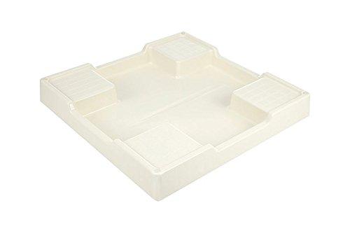 穴なし防水パン 寸法:W640×D640×H60(mm) 色:アイボリーホワイト 材質:PP樹脂