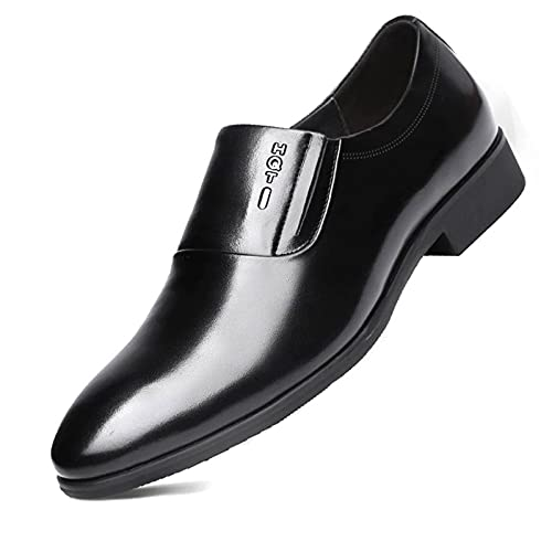 MNVOA Chaussures HabilléEs en Cuir pour Hommes sans Lacets pour Hommes, Taille 37-48 EU,Noir,42EU