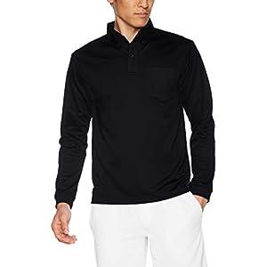 [グリマー] 長袖ポロシャツ (ポケット付) 4.4オンス ドライ ボタンダウン 00314-ABL メンズ ブラック L (日本サイズL相当)