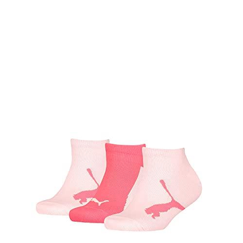 PUMA Boy's with a Twist Sneaker Sock Básico niño con un calcetín Deportivo con Giro, Pink Combo, 31 Regular Unisex Niños