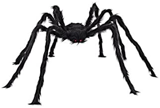 Behemoth - 5ft 150cm Hairy Giant Spider Decoration Huge Halloween Outdoor Decor Toy Party - Titan Goliath Jumbo Gargantuan Heavyweight Monster Star Colossu - 1PCs