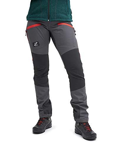 RevolutionRace Damen Nordwand Pro Pants, Hose zum Wandern und für viele Outdoor-Aktivitäten, Gunmetal/Red, 38