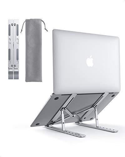 """AUKEY Supporto PC Portatile Angolazione Regolabile Porta Notebook Pieghevole Alluminio Porta PC Supporto per MacBook Air PRO, dell, XPS, HP, Lenovo And Other 10""""–17"""" Laptops"""