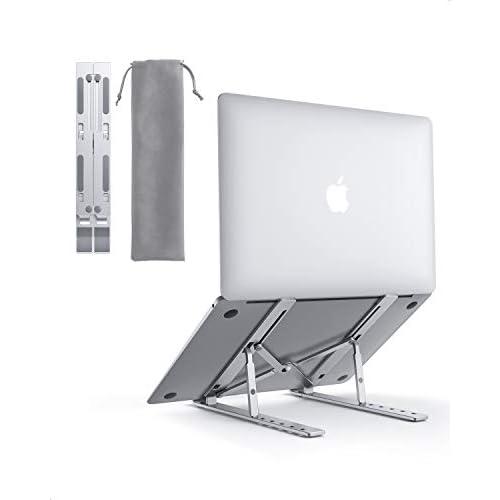 """AUKEY Supporto PC Portatile Angolazione Regolabile Porta Notebook Pieghevole Alluminio Porta PC Supporto per MacBook Air/PRO, dell, XPS, HP, Lenovo And Other 10""""–17"""" Laptops"""
