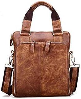 Dengyujiaansstb Laptop Case, Men's Briefcase Leather Men's Bag Business Briefcase Handbags Men's Leather Shoulder Bag Men