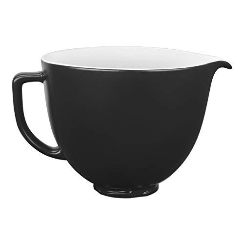 KitchenAid 5KSM2CB5BM Keramikschüssel 4,8 L-Matt schwarz, 4.7 liters