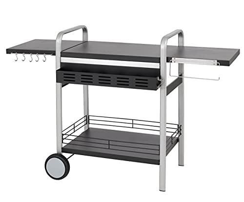 tepro Universal BBQ-Tisch Elektrogrill, schwarz/Silber