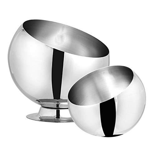 KXMYT Stainless Steel Mixing Bowls, 2 Piece Metal Kitchen Salad Bowl Set, Multi-Purpose Bowl for Mixing, Beating, Storaging Food,Set1