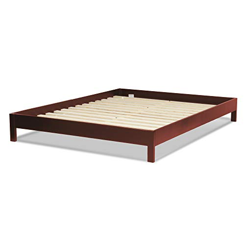 Leggett & Platt Murray Complete Wood Platform Bed with Bedding Support System and Box Design, Mahogany Finish, Queen