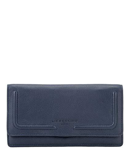 Liebeskind Berlin Damen Round Love Note - Slam Wallet Large Geldbörse, Blau (Mood Indigo), 2x11x19 cm