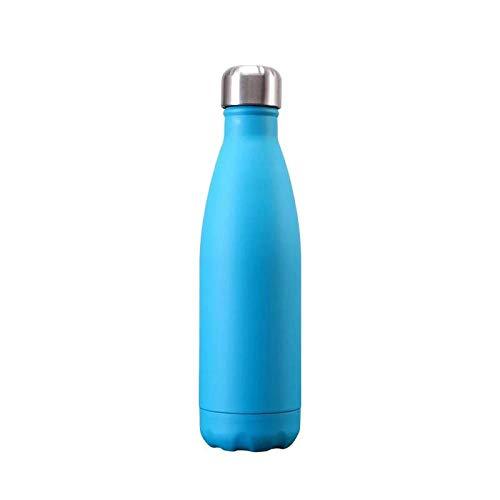 FastDirect, thermos da 500 ml, per acqua a doppia parete, isolante, thermos, in acciaio inox, per sport e bevande, colore: blu