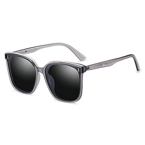 GUANGE Gafas de sol polarizadas para mujer, de gran tamaño, de moda, protección UV400, gafas deportivas, gafas de moda, para conducción, ciclismo, correr, vela, regalos para damas, color gris