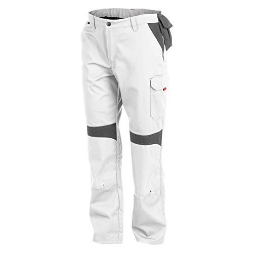 KÜBLER Workwear KÜBLER INNO Plus Arbeitshose weiß, Größe 56, Herren-Arbeitshose aus Mischgewebe, Arbeitshose mit Knieschutztaschen nach EN 14404, leichte Arbeitshose