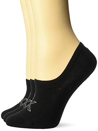 Calvin Klein Women's Socks - Cotton Blend Cushioned No-Show Athletic Sock Liners (3 Pack), Black - 3 Pack, Shoe Size 6 - 9.5