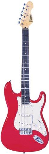 Encore EBP-KC3R rojo de la guitarra eléctrica de Trajes