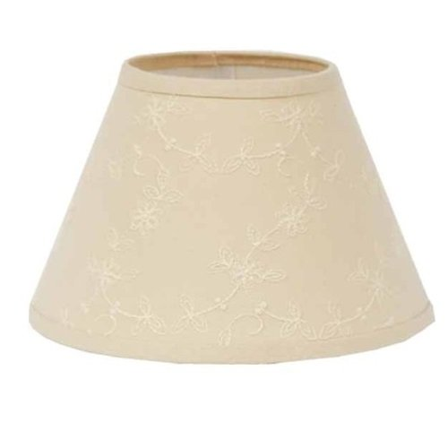 Home de Raghu Candlewicking Rondelle Abat-Jour, 35,6 cm, crème