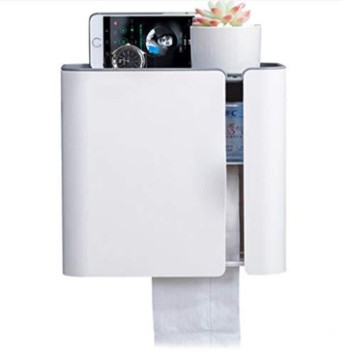 RJSODWL Papel higiénico sostenedor del Tejido de la Caja del Tejido dispensador montado en la Pared Impermeable Rollo de Almacenamiento en Rack de baño Cocina