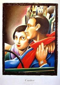 AZSTEEL Cartier Couple (Watches) | Poster No Frame Board For Office Decor, Best Gift For Family And Your Friends 11.7 * 16.5 Inch