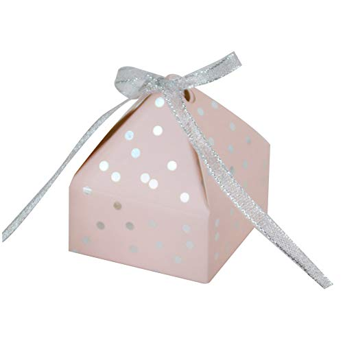 Weanty 50x Favores Cajas para la Boda Cumpleaños Fiesta de Bienvenida al Bebé Sagrada Comunión Fiesta de Graduación Navidad o Varias Ocasiones,Caja para Bombones Dulces Chocolates,Pequeños Regalos