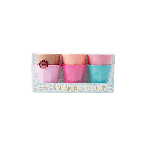 Rice Melamin Espresso Becher Cups Klein Small 6er Set 7 cm - Assorted Life is Better in Color