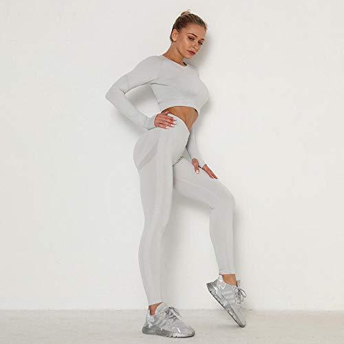 Fitness Sport Yoga Hosen,Frauen Fitness Leggings Yogahosen, Leggings mit hoher Taille, Laufrad Yoga Trainingshose-Weiß_M.
