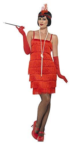 Smiffy 's corto para la Mujer 1920Flapper Disfraz (Tamaño Mediano), color rojo