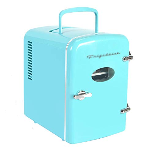 Mini Nevera, Blue 4 Litros Mini Fridges, Maquillaje Portátil SkinCare Frigorífico Refrigerador Refrigerador AC + DC Opciones De Compatibilidad De Potencia Para La Oficina De Dormitorio(Color:Azul)