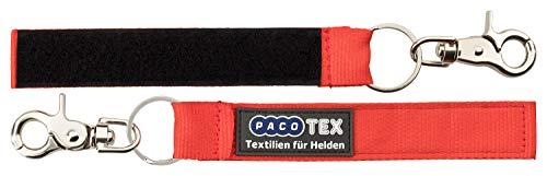 Atemschutzüberwachung ASÜ Anhänger für Namensschild, mit 130x25mm Flausch und Karabinerhaken (rot)