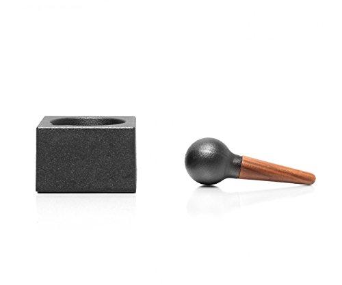 Skeppshult Mörser Cubic aus Gusseisen, inkl. Kochen Macht Spaß Vespermesser