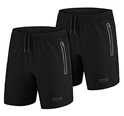 TCA Men's Elite Tech Lightweight Running or Gym Training Shorts with Zip Pockets