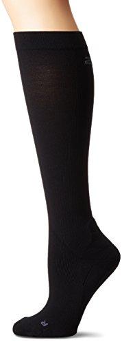 2XU Damen Compression Performance Run Socken, schwarz/schwarz, X-Large