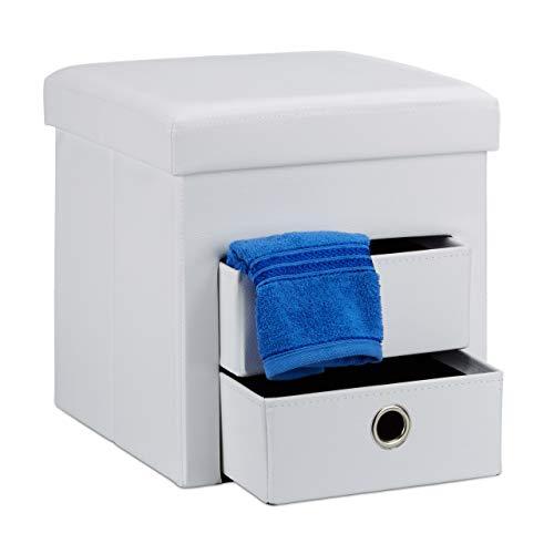 pouf contenitore bagno Relaxdays Pouf Contenitore Pieghevole