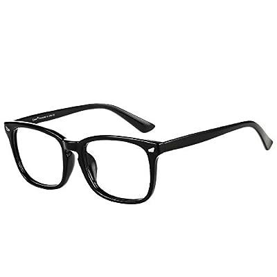 Cyxus Blue Light Filter Computer Glasses for Blocking Headache [Anti Eye Eyestrain] Transparent Lens Gaming Glasses, Unisex (Men/Women), Classic Black from Cyxus